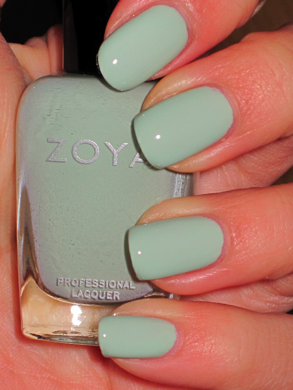 Zoya nail polish, color: Neely (pastel mint green creme) | Our Nail ...