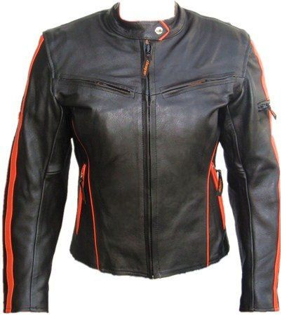 Save $ 96 order now Womens Protective Motorcycle Racing Cowhide Leather Jacket w