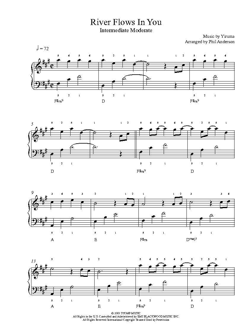 River Flows In You By Yiruma Piano Sheet Music Intermediate