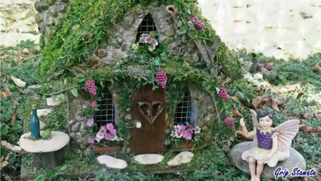 Miniature Fairy Garden Houses ~ an inspirational video of different ...