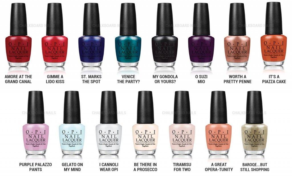 Review, Colors, Shades: OPI Venice Nail Polish Collection Fall ...