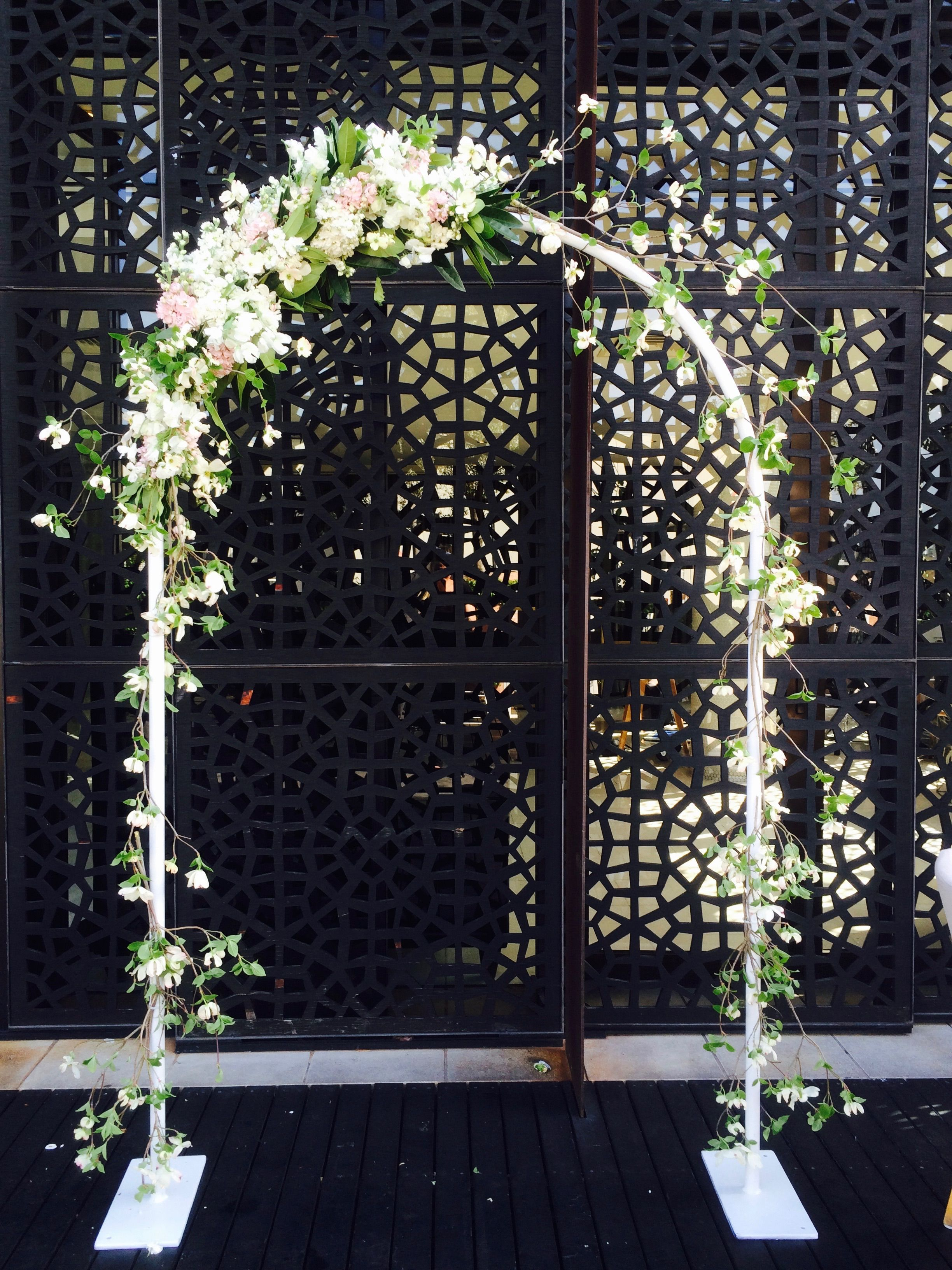 White metal arch - you can have square or round top | By Flower Jar ...