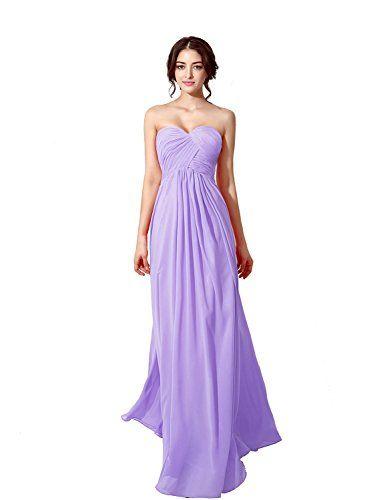 Lilac Bridesmaid Dresses Chiffon Long Prom Ballgown Evening Maxi Uk