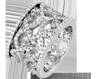 bague diamant sur fil invisible