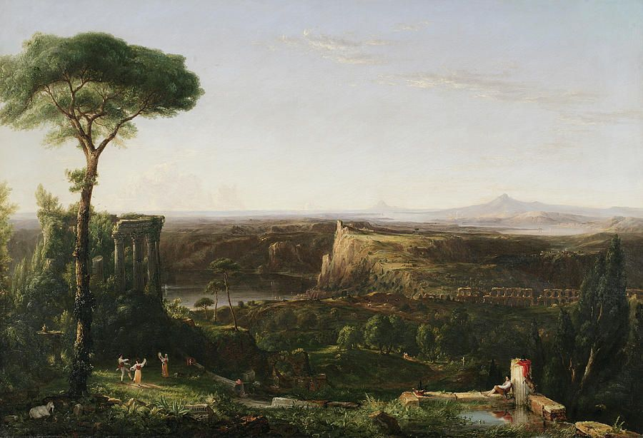 Italian Scene Composition By Thomas Cole Hudson River School Landscape Paintings Milwaukee Art Museum