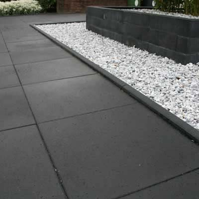 Tremico antraciet reijmer sierbestrating tuin pinterest tuin tuin idee n en tegels - Terras rand idee ...