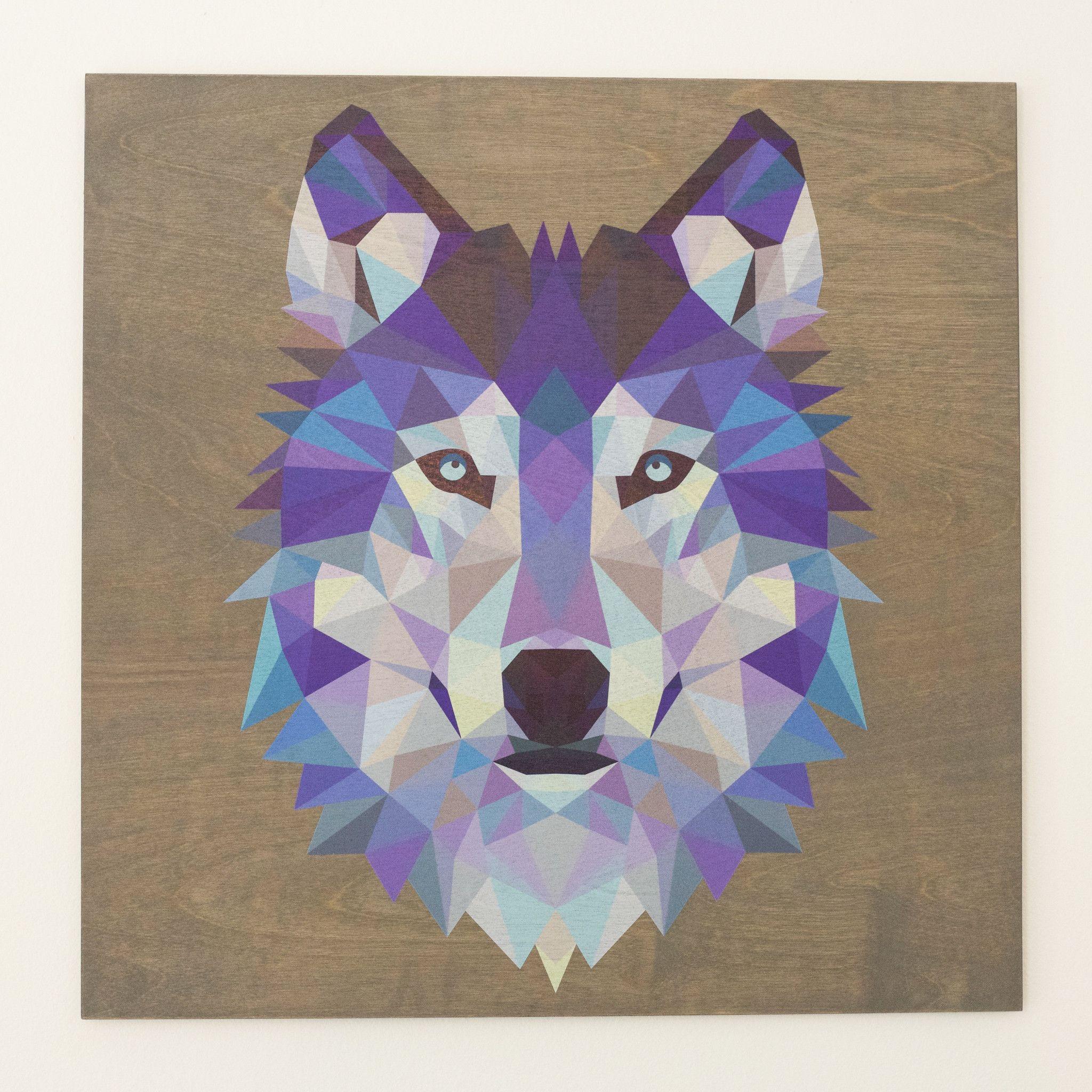 картинки волка из треугольников атласного
