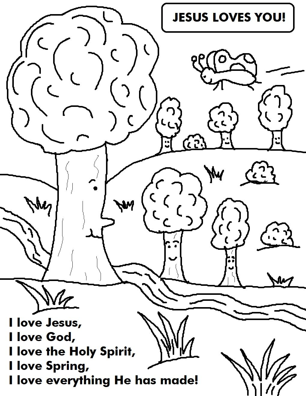 spring coloring sheet - Google Search | PK-Religion | Pinterest ...