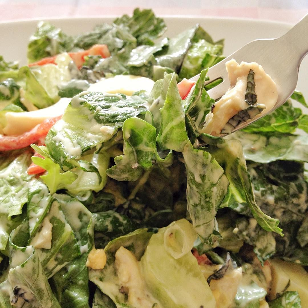 We make salad - meals GREEN chicken salad with mint (for 2)