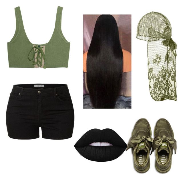 """""""Fenty"""" by ardrey on Polyvore featuring Puma, LE3NO and Lime Crime"""