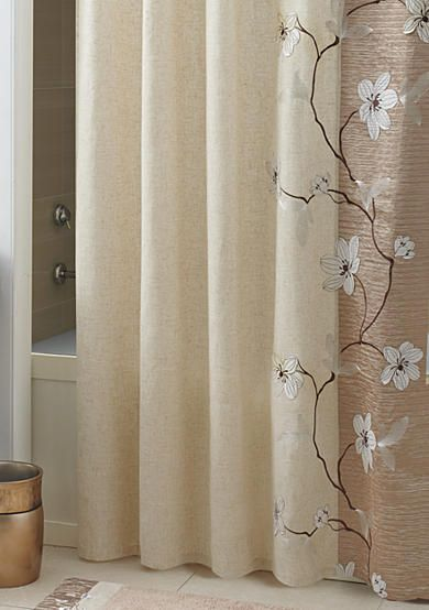 Croscill Magnolia Shower Curtain And Hooks