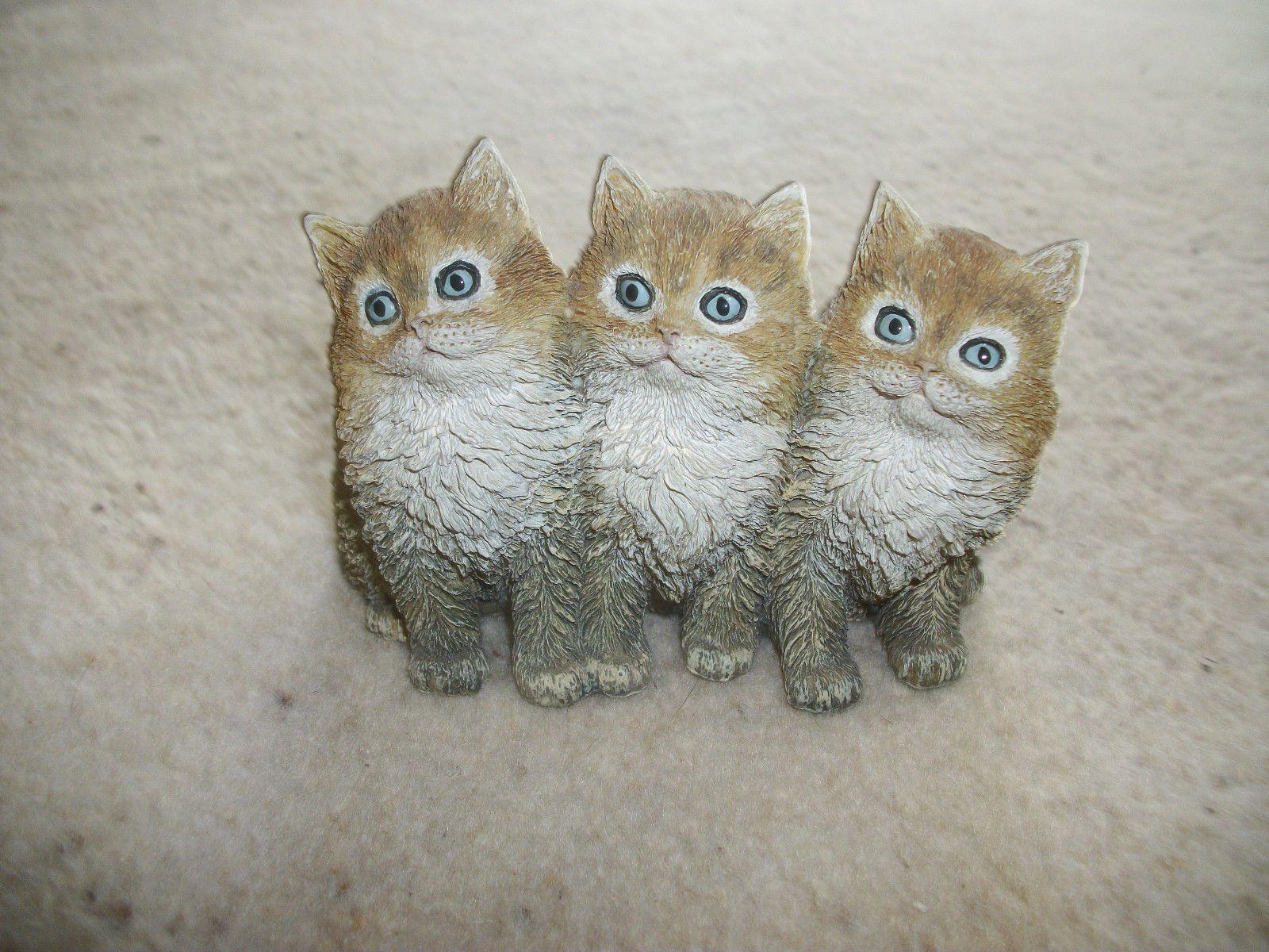 Just Adorable Danbury Mint T Janner 97 Three Little Kittens Resin Cat Ornament | eBay