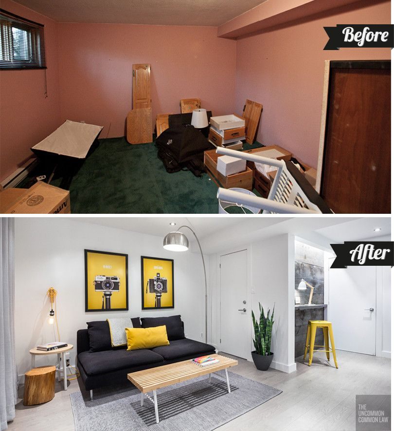 Cheap Studio Apartments Vancouver: The Basement Studio: Before And After
