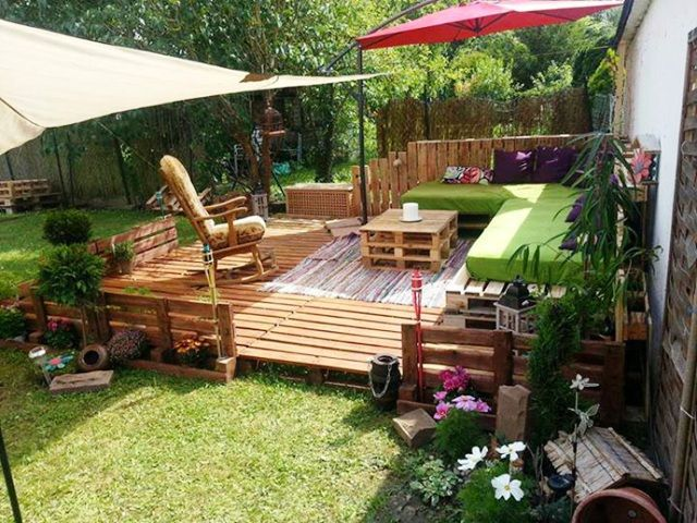 Mobilier De Jardin Palette. Excellent Ides De Salon De Jardin En ...