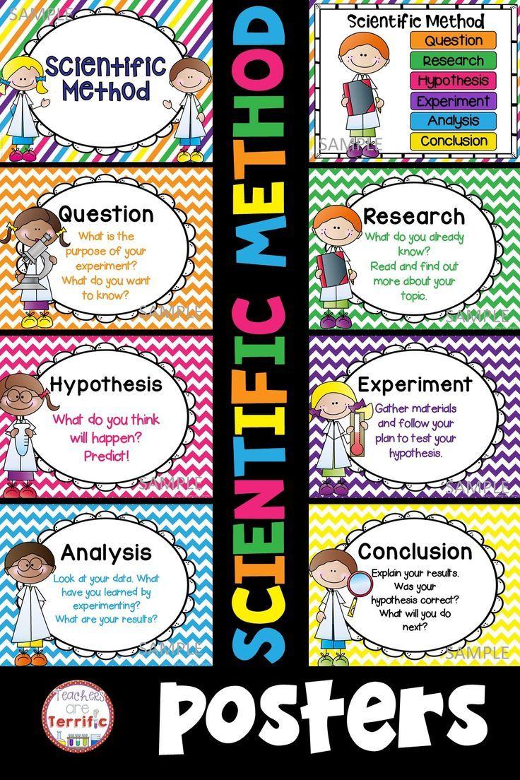Scientific Method Posters Scientific Method Posters Scientific Method Elementary Science Classroom [ 1104 x 736 Pixel ]