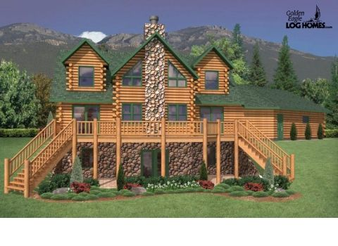 Log Homes And Log Home Floor Plans Cabins By Golden Eagle Log Homes  MOUNTAIN VIEW #