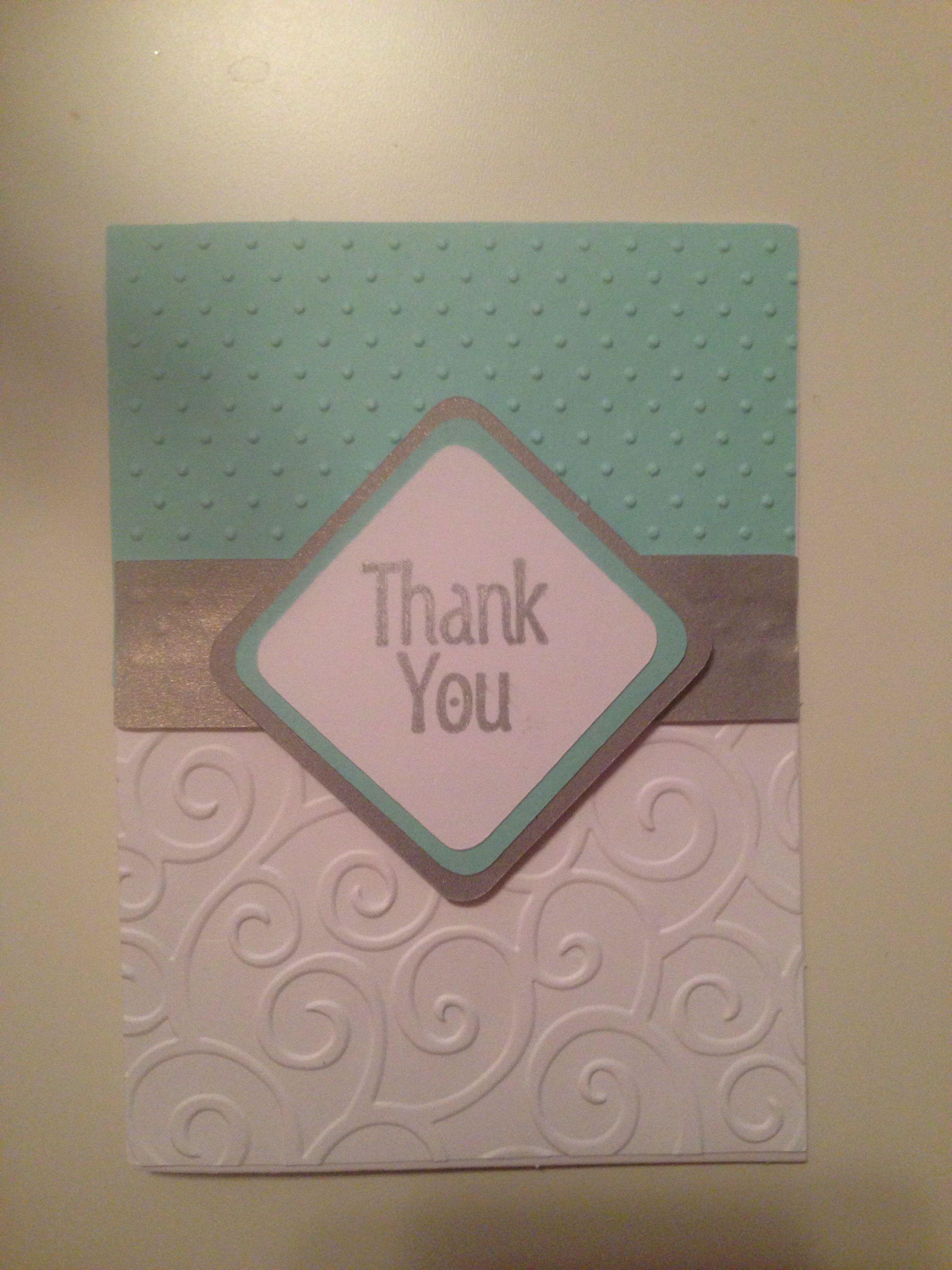 Cricut Thank You Card Diy Handmade Thank You Cards Thank U