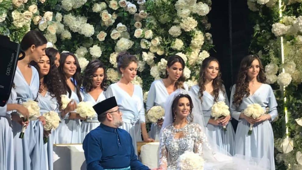 Image result for king sultan muhammad v wedding