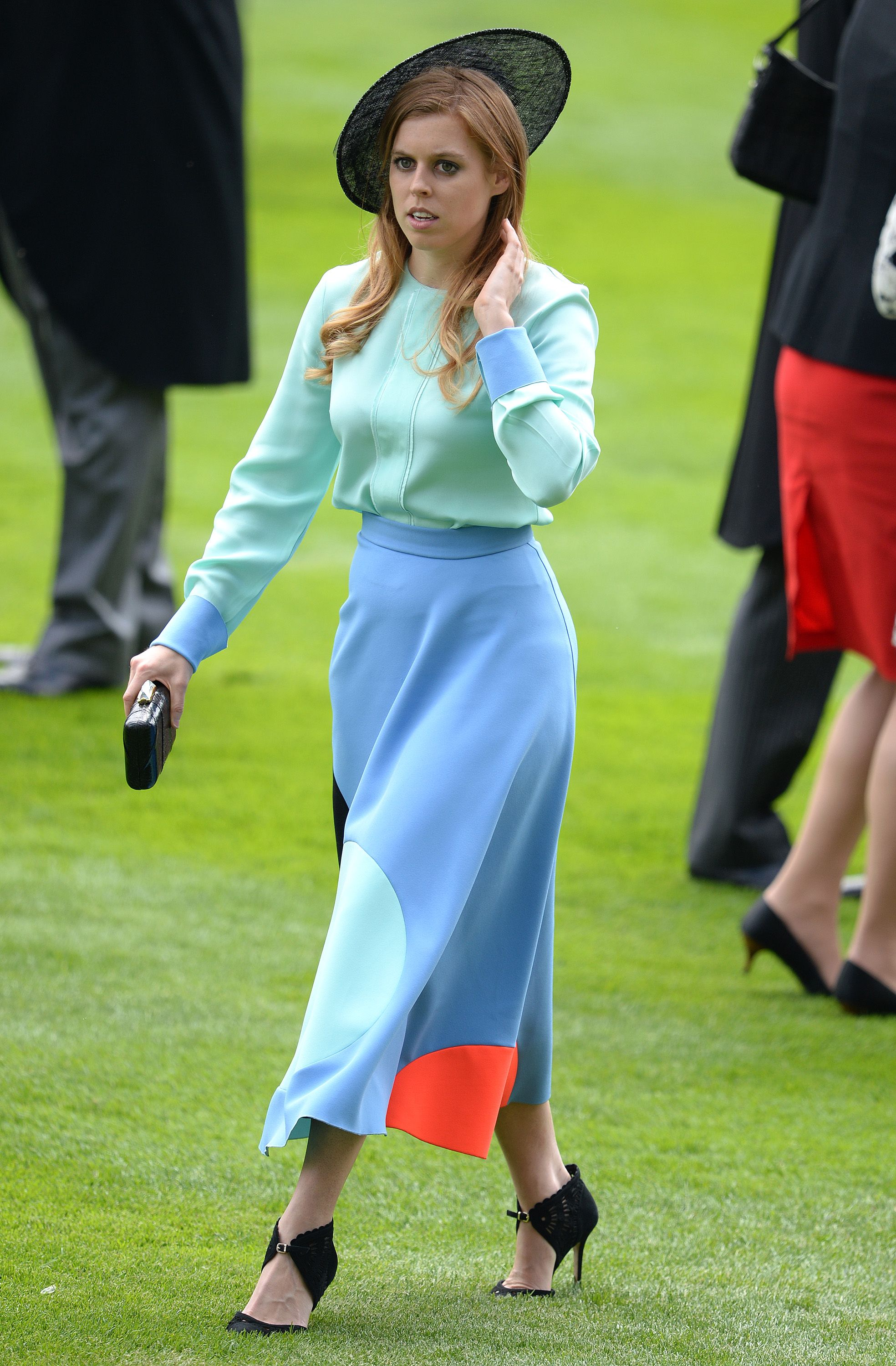 Zara's cousin, Princess Beatrice, combined bright colours
