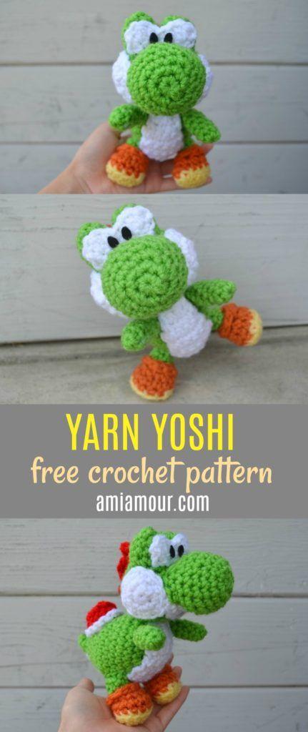 Free Yoshi Amigurumi Pattern | crochet | Pinterest | Patrones ...