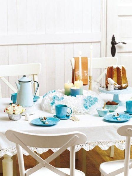 winterliche kaffeetafel tischdeko in eist nen deko zum fr hst ck pinterest. Black Bedroom Furniture Sets. Home Design Ideas