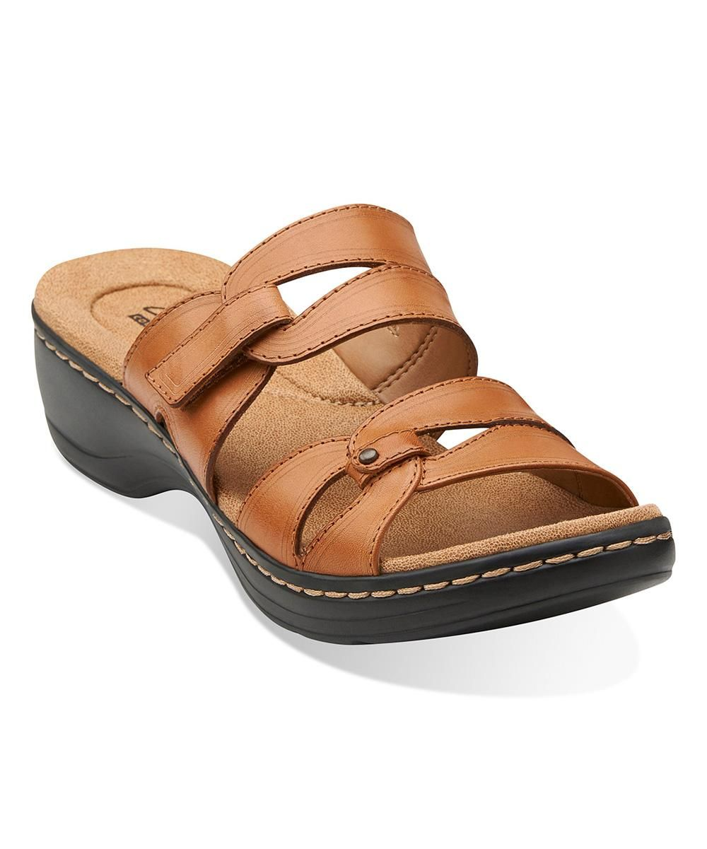 59ac0c9aed57 Clarks Tan Hayla Canyon Leather Sandal