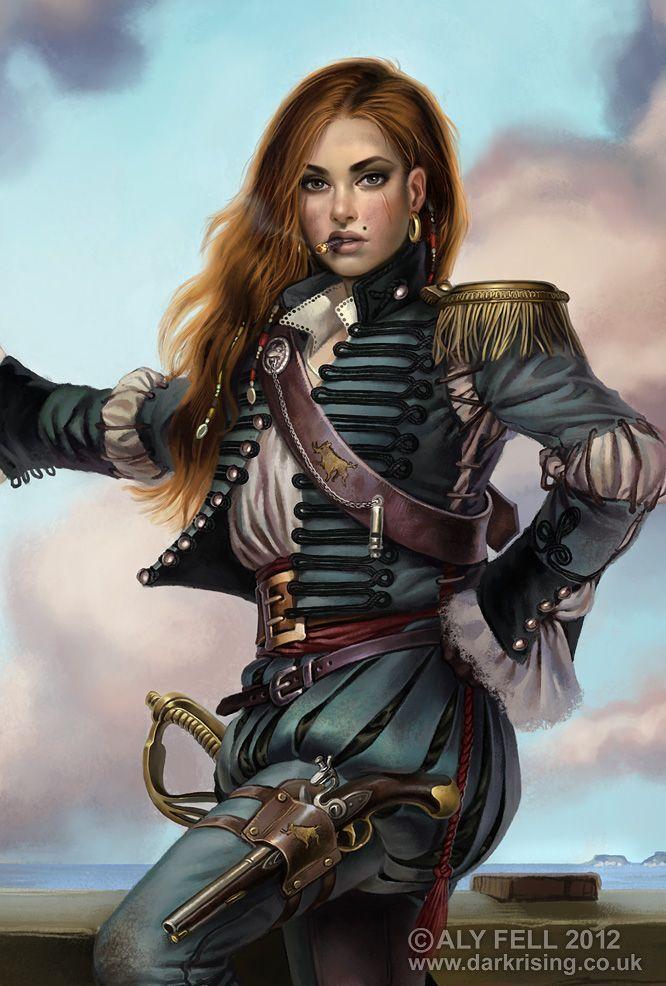 Image result for Female Captain art