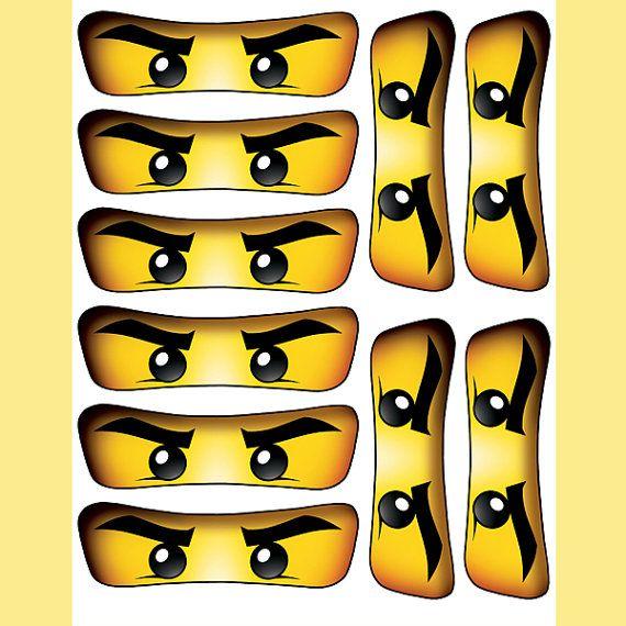 Ausmalbilder Ninjago Gesicht: INSTANT DOWNLOAD Ninjago Eyes 5 Inch For Balloon By EssU50