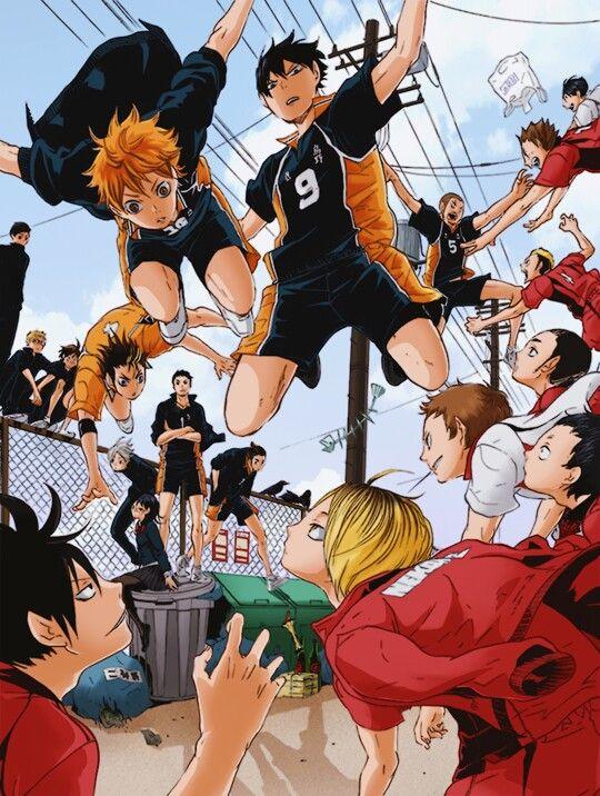 Karasuno High vs Nekoma Haikyuu!! Haikyuu Pinterest