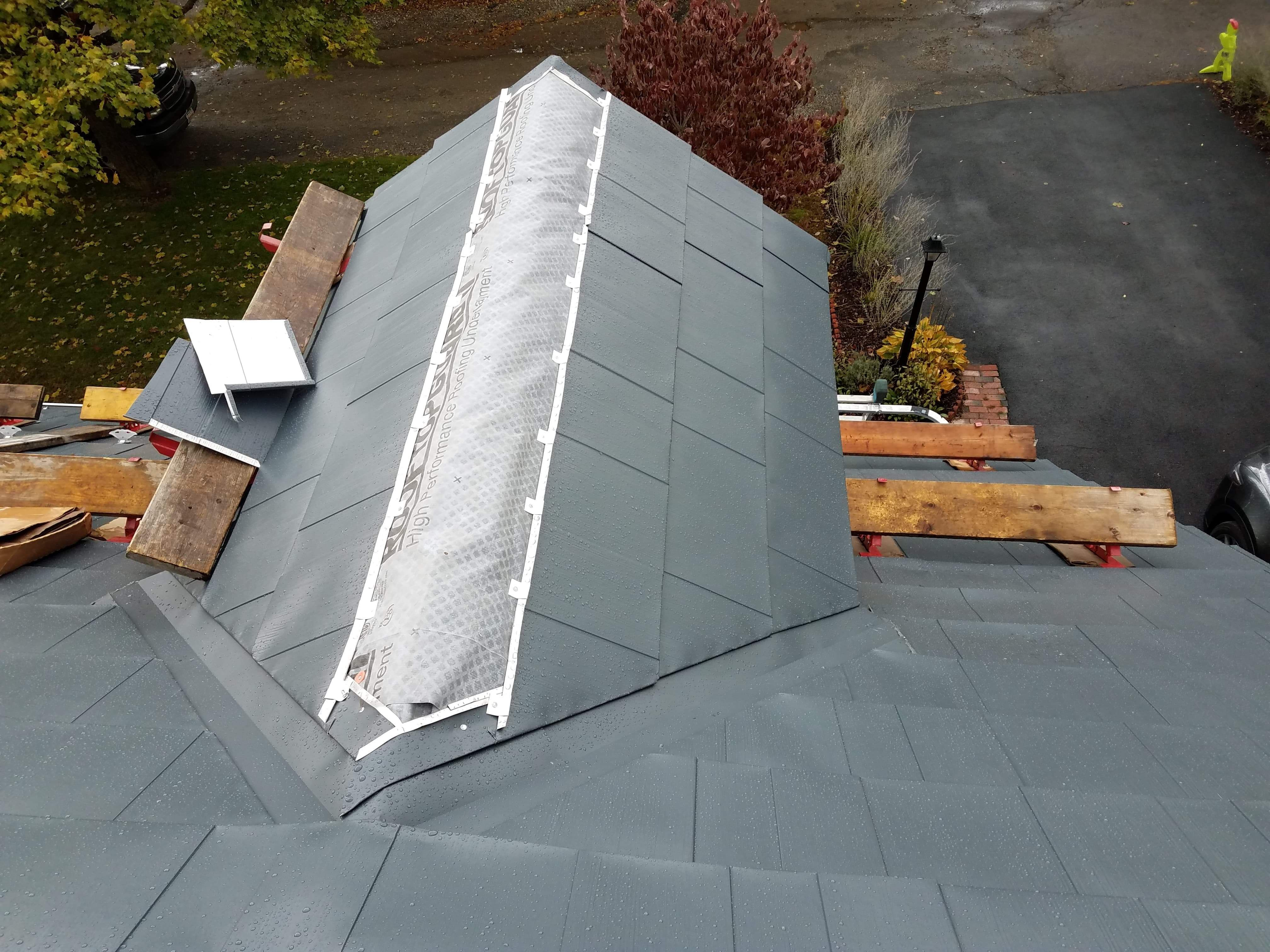 Oxford Slate Classic Metal Roofs Llc Stow Ma Metal Roof Roof Metal Shingles