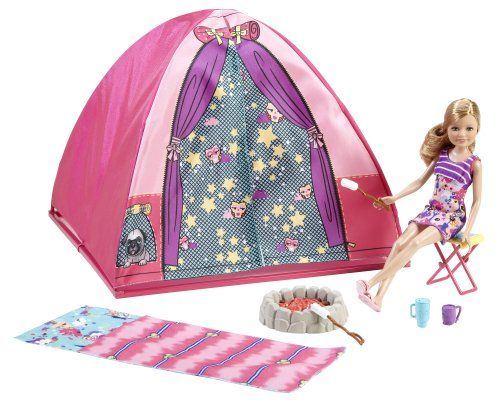 Barbie Sisters C& Out Set with Stacie Doll Tent Sleeping Bag u0026 Accessories Barbie  sc 1 st  Pinterest & Barbie Sisters Camp Out Set with Stacie Doll Tent Sleeping Bag ...