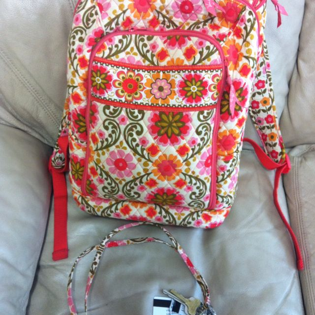 Matching Vera backpack and lanyard...Every college girl's necessity!