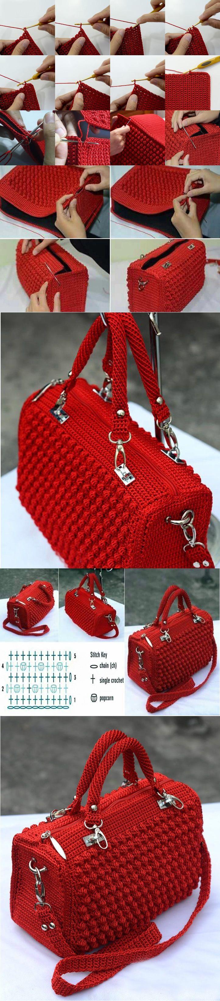tığ işi çanta yapımı #crochethandbags
