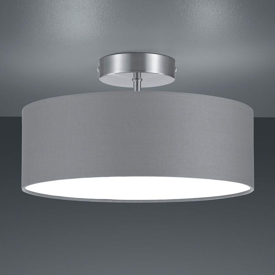 Deckenleuchte Shima Ii Webstoff Metall 2 Flammig Grau Weiß Deckenlampe Schlafzimmer Deckenleuchte Schlafzimmer Decke