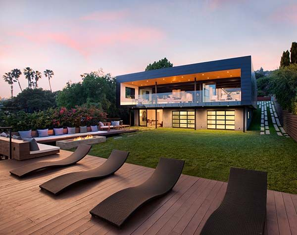 A sleek modern architectural masterpiece was designed by dan weber architecture nestled hillside in the
