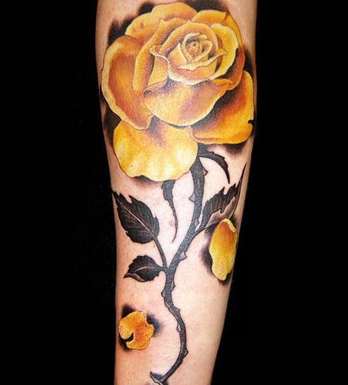 yellow rose tattoo | d33b3__Yellow-Rose-Tattoo-for-Girls-Arm.jpg ...