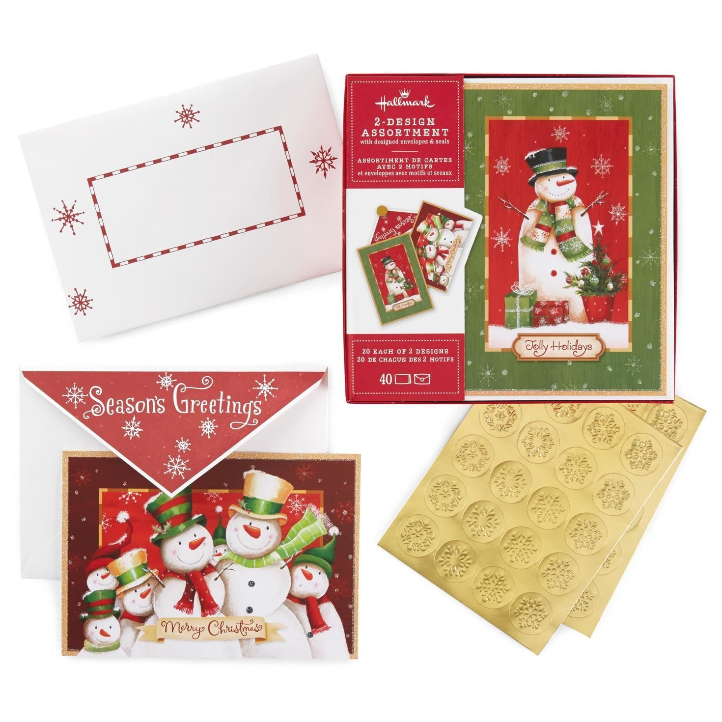 Snowman family and snowman 2 pack boxed christmas cards with seals snowman family and snowman 2 pack boxed christmas cards with seals kristyandbryce Choice Image