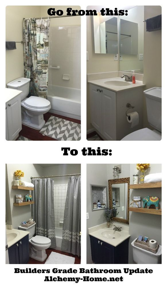 Easy Diy Builders Grade Bathroom Updates Easy Bathroom Updates Simple Bathroom Home Upgrades