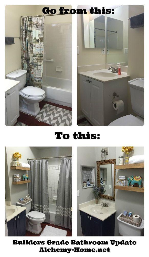 Easy Diy Builders Grade Bathroom Updates Simple Bathroom Easy Bathroom Upgrades Bathroom Update
