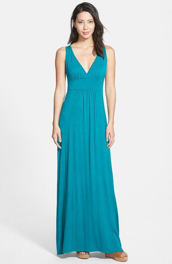 V-Neck Jersey Maxi Dress (Regular & Petite)   Maxi Dresses ...
