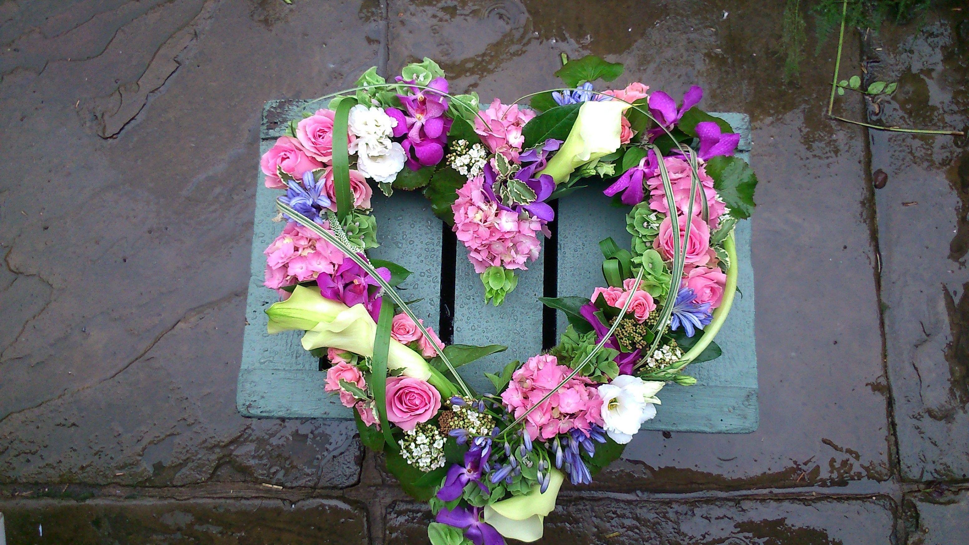 Open Heart Design Funeral Flower Ideas Pinterest Funeral Flowers