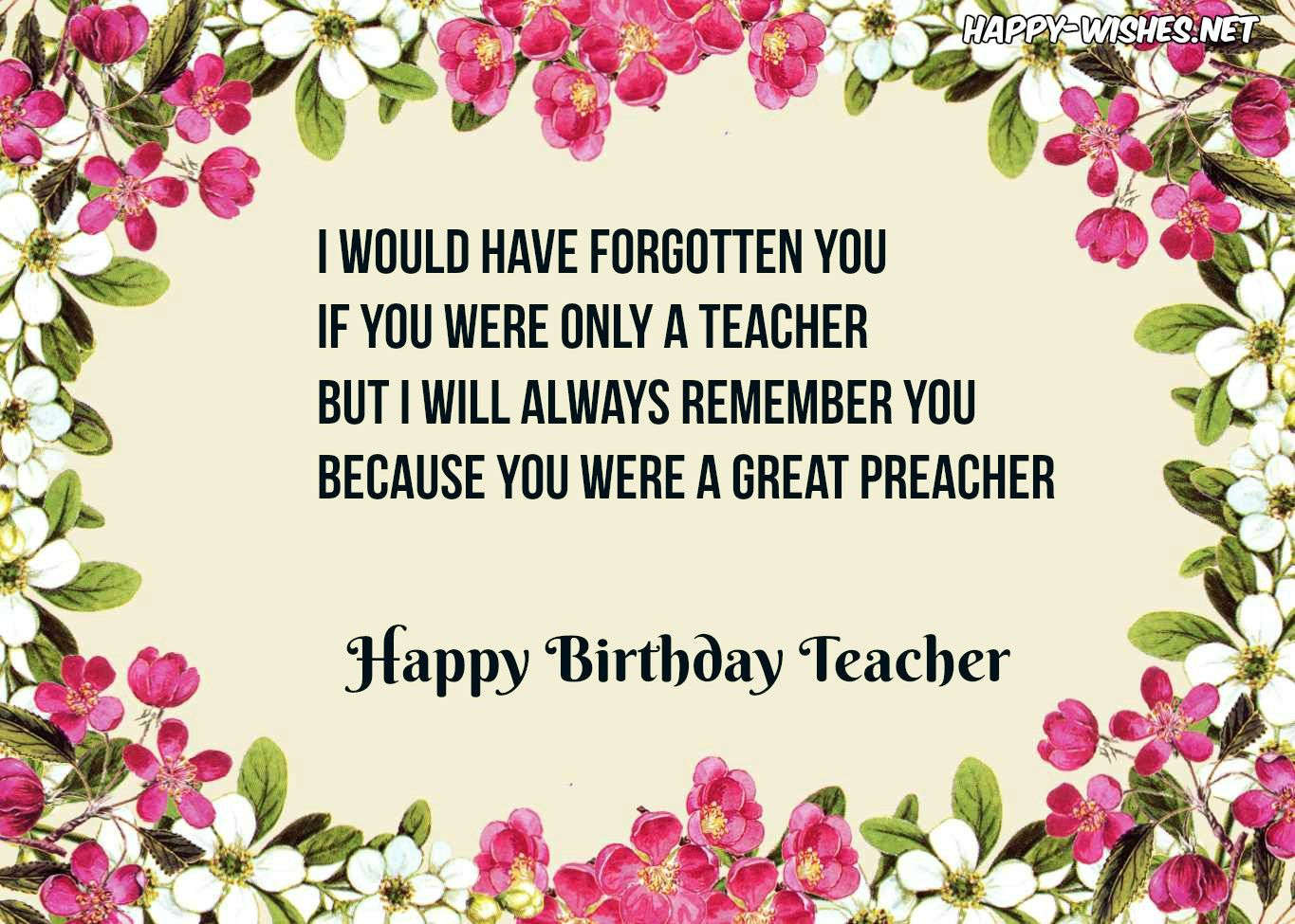 Happy Birthday Images For Teacher Computers Birthday Wishes For