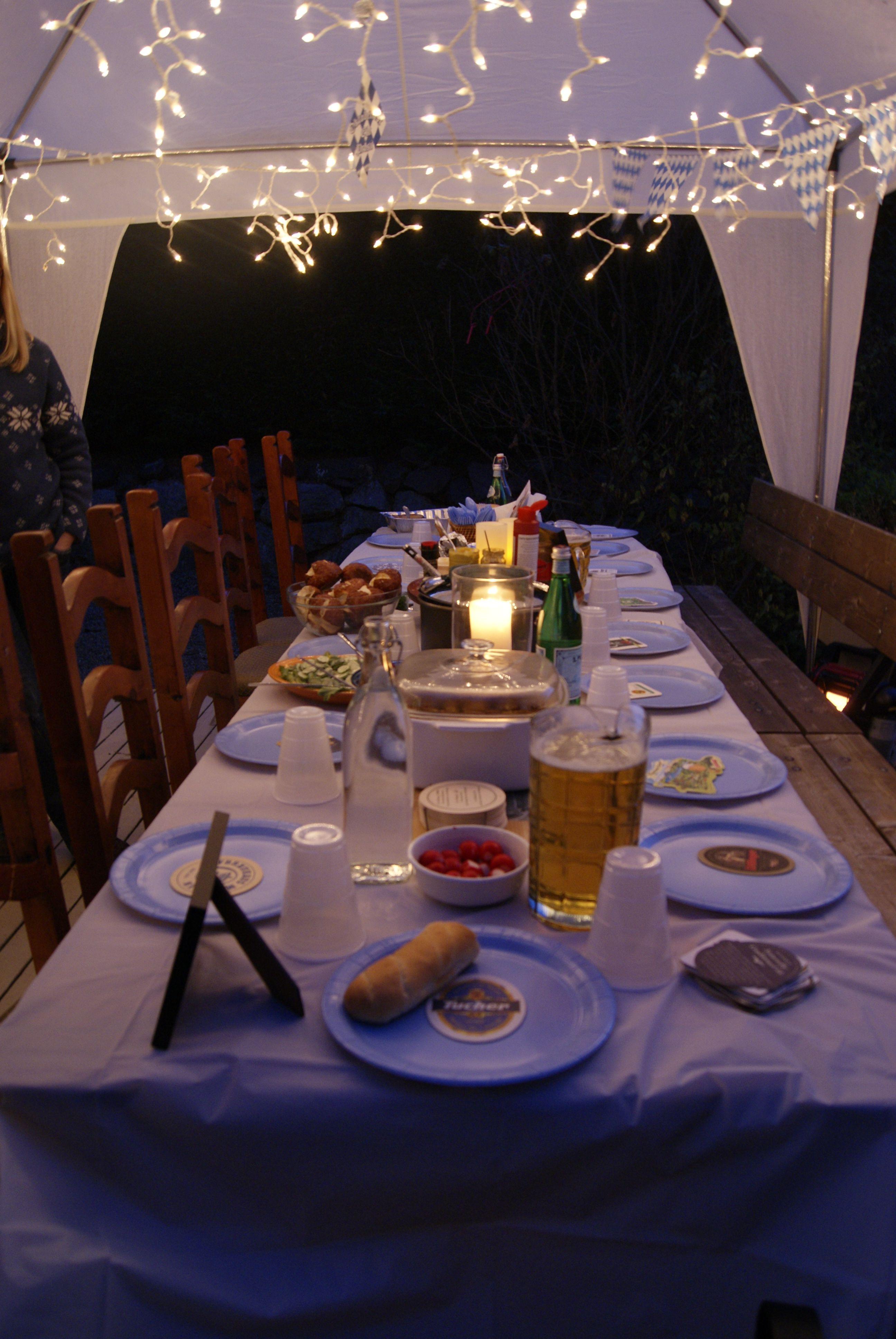 Eine Einfach Beschwingte Tischdeko Zum Oktoberfest Oktoberfest