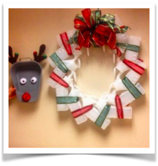 Hospital Holiday Diy The Urinal Christmas Wreath Vanderbilt Nursing