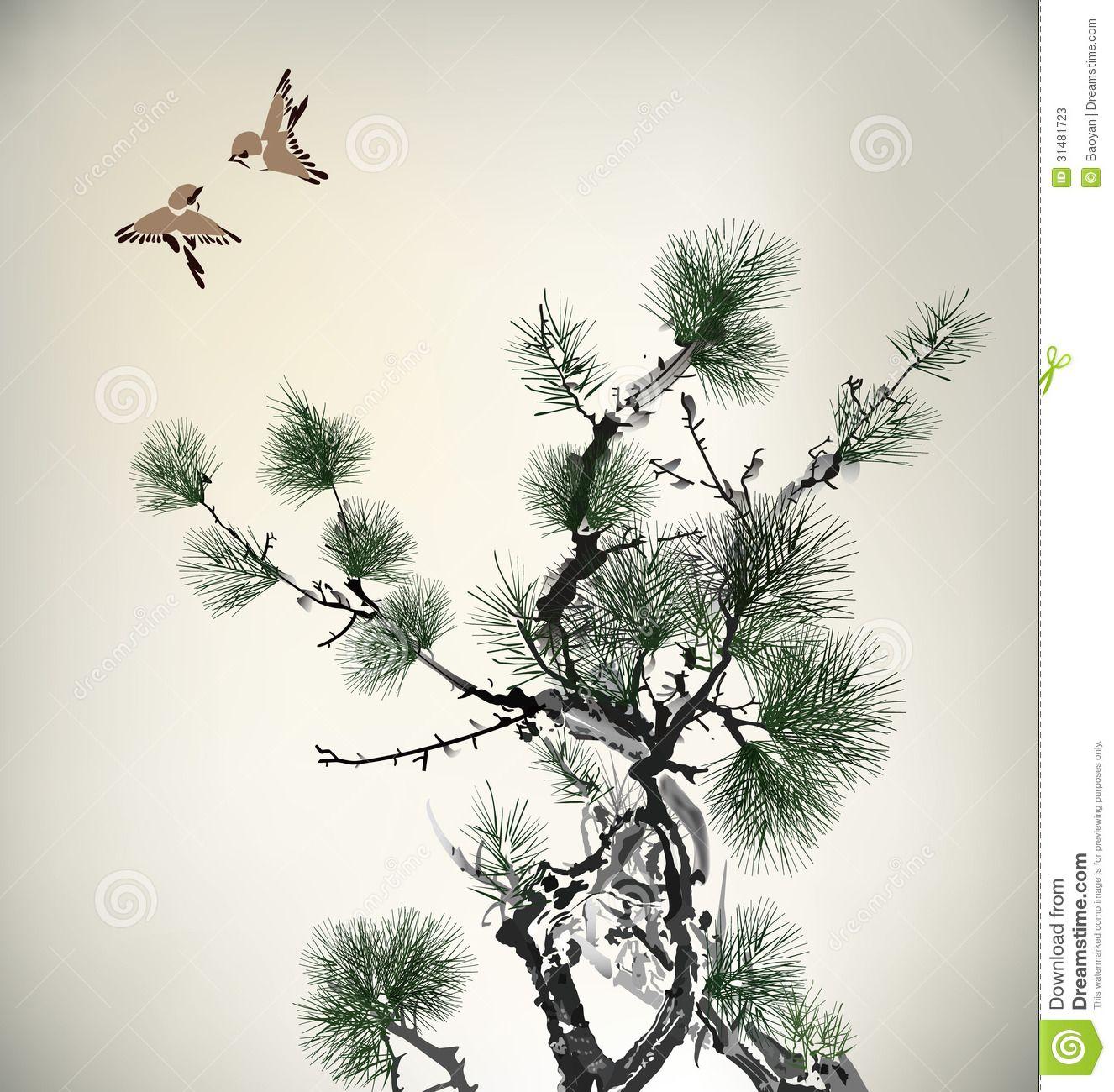 japanese bird etching ...