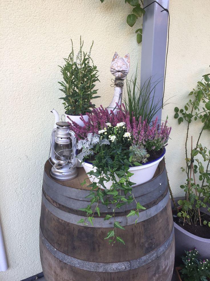 Weinfass-Deko Garten #dekoeingangsbereichaussen