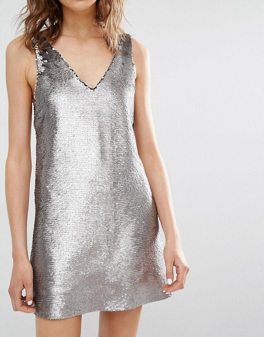 c15ff371ea6e7 Image 3 - Mango - Robe caraco ornée de sequins   You Got the Silver ...