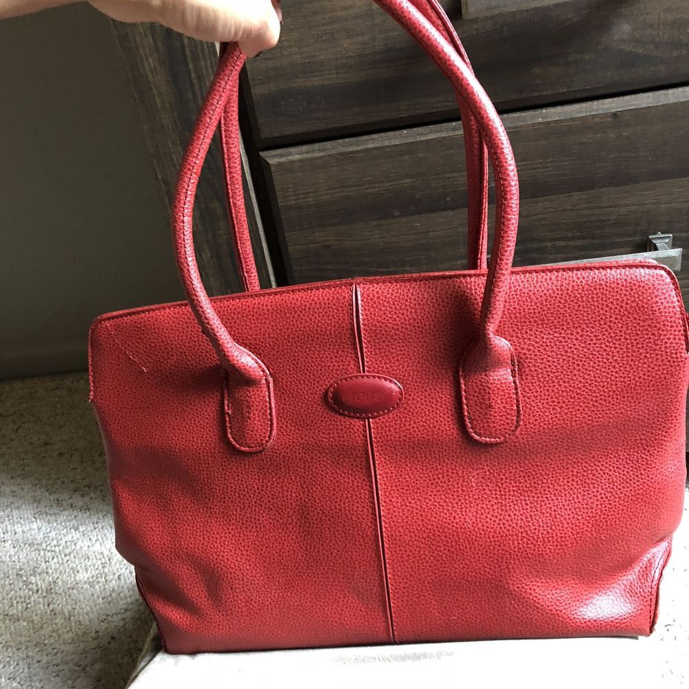 b0cdbbfe06 Tods Red Leather Tote Bag  fashion  clothing  shoes  accessories   womensbagshandbags (