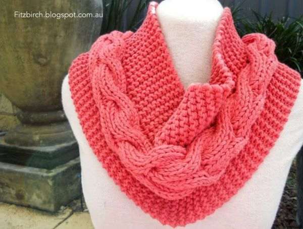 Cable And Garter Cowl Free Knitting Pattern And More Free Cowl