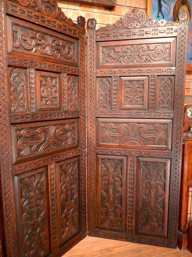 Biombo antiguo de encino 30 000 arte y antig edades pinterest antig edades biombos y arte - Biombos chinos antiguos ...